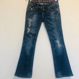 Rock revival Celine jeweled boot cut jeans 26